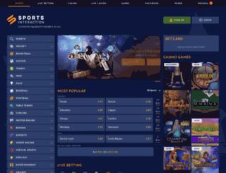 sportsinteraction.com screenshot