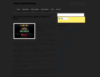 sportsonlinebetting.blogspot.com screenshot