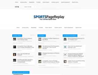 sportspagereplay.com screenshot