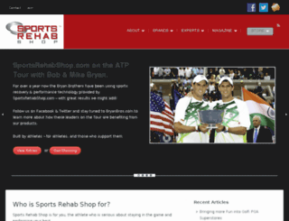 sportsrehabshop.com screenshot