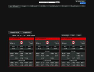 sportstoto.4dking.com.my screenshot