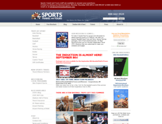 sportstravelandtours.com screenshot