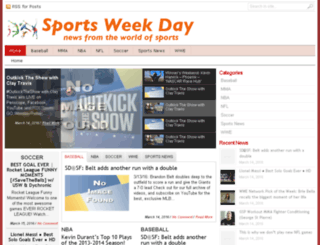 sportsweekday.com screenshot