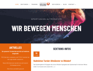 sportunion-altmuenster.at screenshot