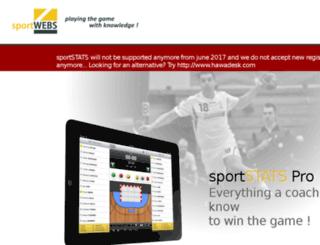 sportwebs.be screenshot