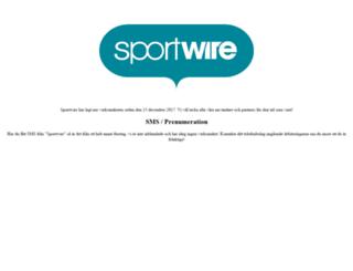 sportwire.se screenshot