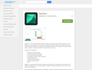 spotflux.joydownload.com screenshot