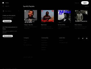 spotify.com screenshot