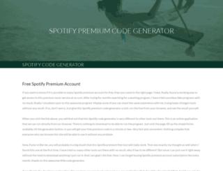 spotifygenerator.weebly.com screenshot