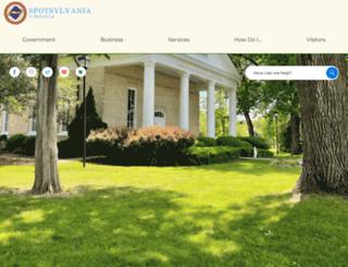 spotsylvania.va.us screenshot