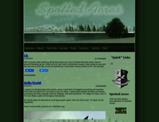 spottedacres.weebly.com screenshot