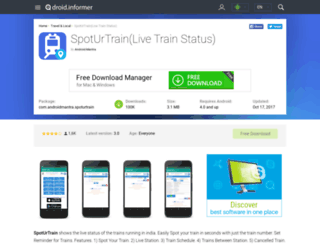 spoturtrain-live-train-status.android.informer.com screenshot