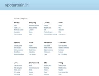 spoturtrain.in screenshot
