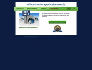 sprachreise-news.de screenshot