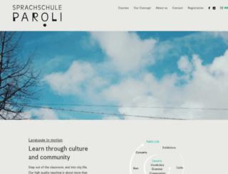sprachschule-paroli.de screenshot