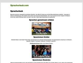 sprachurlaub.com screenshot