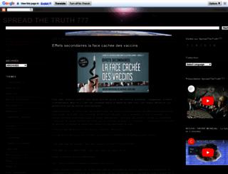 spread-the-truth777.blogspot.be screenshot
