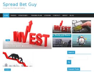 spreadbetguy.co.uk screenshot