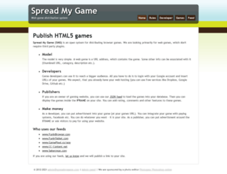 spreadmygame.com screenshot