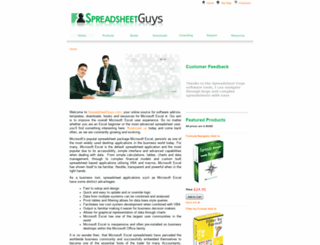 spreadsheetguys.com screenshot