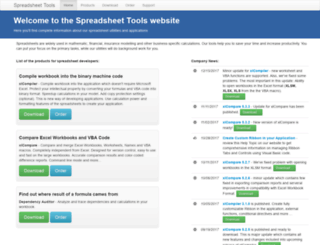 spreadsheettools.com screenshot