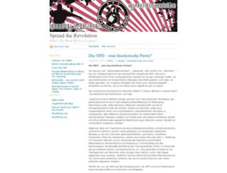 spreadtherevolution.wordpress.com screenshot