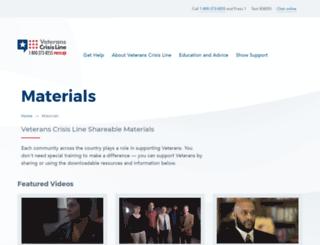 spreadtheword.veteranscrisisline.net screenshot