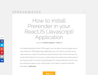 spreadwaves.com screenshot