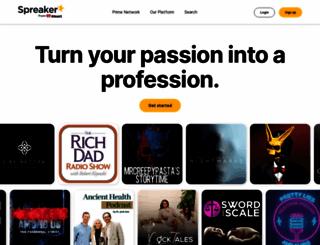 spreaker.com screenshot