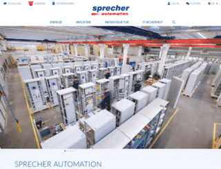 sprecher-automation.com screenshot