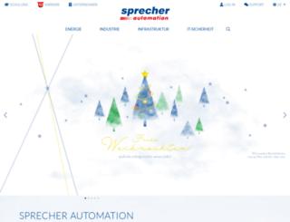 sprecher-automation.de screenshot
