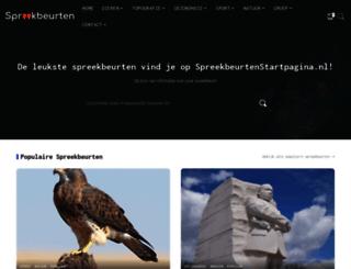 spreekbeurtenstartpagina.nl screenshot