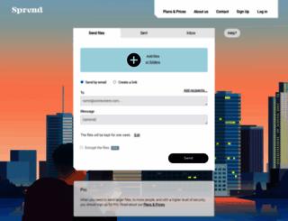 sprend.com screenshot