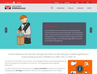 sprengschule-dresden.de screenshot
