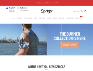 sprigs.com screenshot