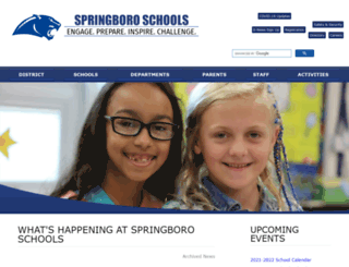 springboro.org screenshot