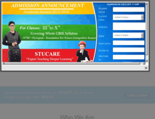 springdaleindiranagar.stucare.net screenshot