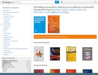 springerlink.com screenshot