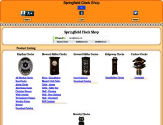 springfieldclock.net screenshot