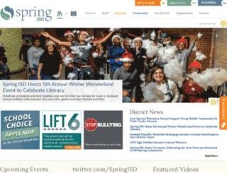 springisd.org screenshot