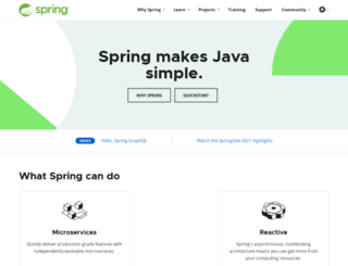 springsource.com screenshot