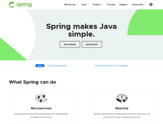 springsource.org screenshot