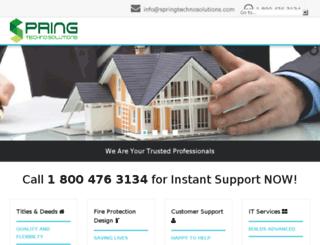 springtechnosolutions.com screenshot