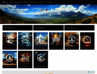 springville.org screenshot