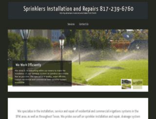 sprinklerinstallationfortworth.com screenshot