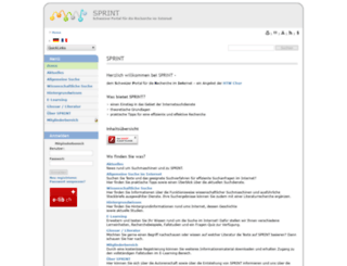 sprint.informationswissenschaft.ch screenshot