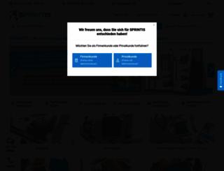 sprintis.de screenshot