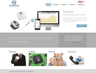 sprintron.com screenshot