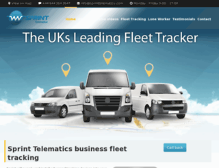 sprinttelematics.com screenshot