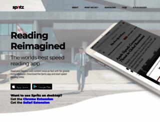 spritzinc.com screenshot
